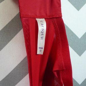 Cacique Intimates & Sleepwear - Cacique Bra Red with Black Lace 42DDD